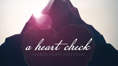 A Heart Check, Matt 17: 1-9