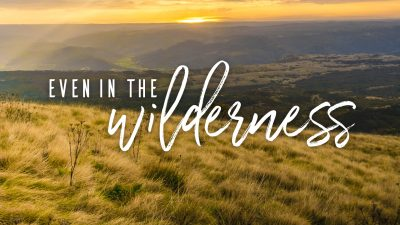 Needs and Doubts: He is faithful even in the wilderness